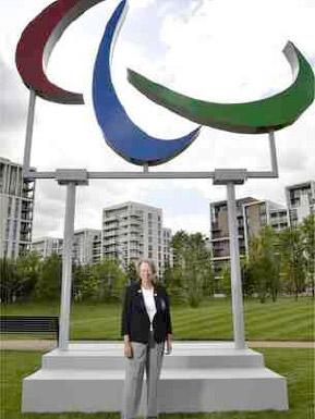 Eva in the Athletes' Village